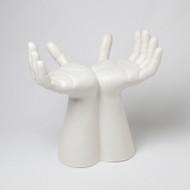 Hands Stool - Matte White