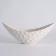 Honeycomb Long Bowl - Matte White