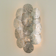 Lily Pad Wall Sconce - Antique Nickel - Hardwired