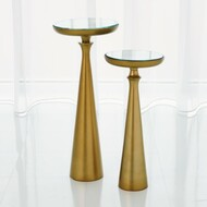Minaret Accent Table - Satin Brass - Sm