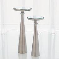Minaret Accent Table - Satin Nickel - Lg