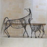 Ming Dynasty Horse - Antique Bronze - Lg