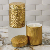 Moonscape Jar Candle - Sandalwood Teak - Gold