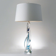 Ocean Twist Lamp with Silk Shade