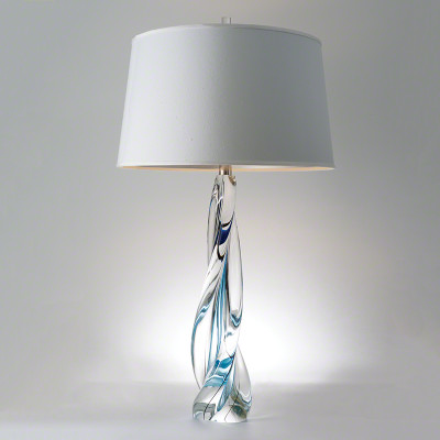 Ocean Twist Lamp with Silk Shade
