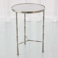 Spike Accent Table - Antique Nickel https://cdn3.bigcommerce.com/s-nzzxy311bx/product_images//w/White Marble Top