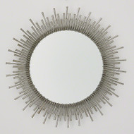 Spike Mirror - Antique Nickel