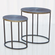 Striated Accent Table - Graphite - Lg