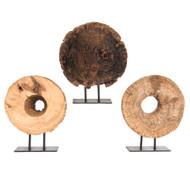 Wood Half Ukhli Wheel on Stand