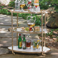 Arbor Bar Cart - Brass
