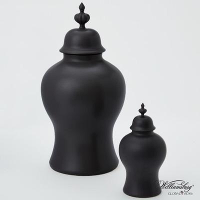 Beaufort Ginger Jar - Matte Black - Sm