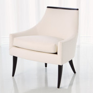 Boomerang Chair - White Leather