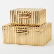 Corrugated Bamboo Box - Brass - Lg