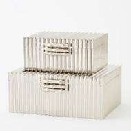 Corrugated Bamboo Box - Nickel - Lg