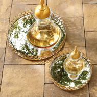 Double Arch Tray - Brass - Lg