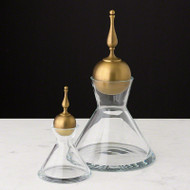 Finial Decanter - Brass - Lg