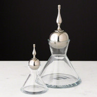 Finial Decanter - Nickel - Sm