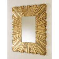 Linen Fold Mirror - Brass