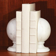Marble Sphere Bookends - Pair