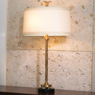 Organic Table Lamp - Antique Brass Finish