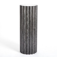 Reflective Column Pedestal - Black Cerused Oak