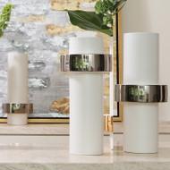 Silver Ring Vase - High