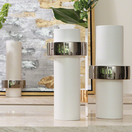 Silver Ring Vase - Mid