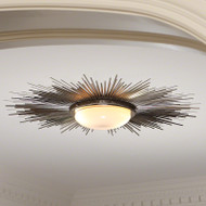 Sunburst Light Fixture - Nickel