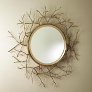Twig Mirror - Brass