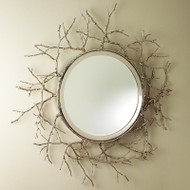 Twig Mirror - Nickel