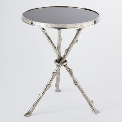 Awesome Global Views Twig Table Nickel Black Granite Frankydiablos Diy Chair Ideas Frankydiabloscom