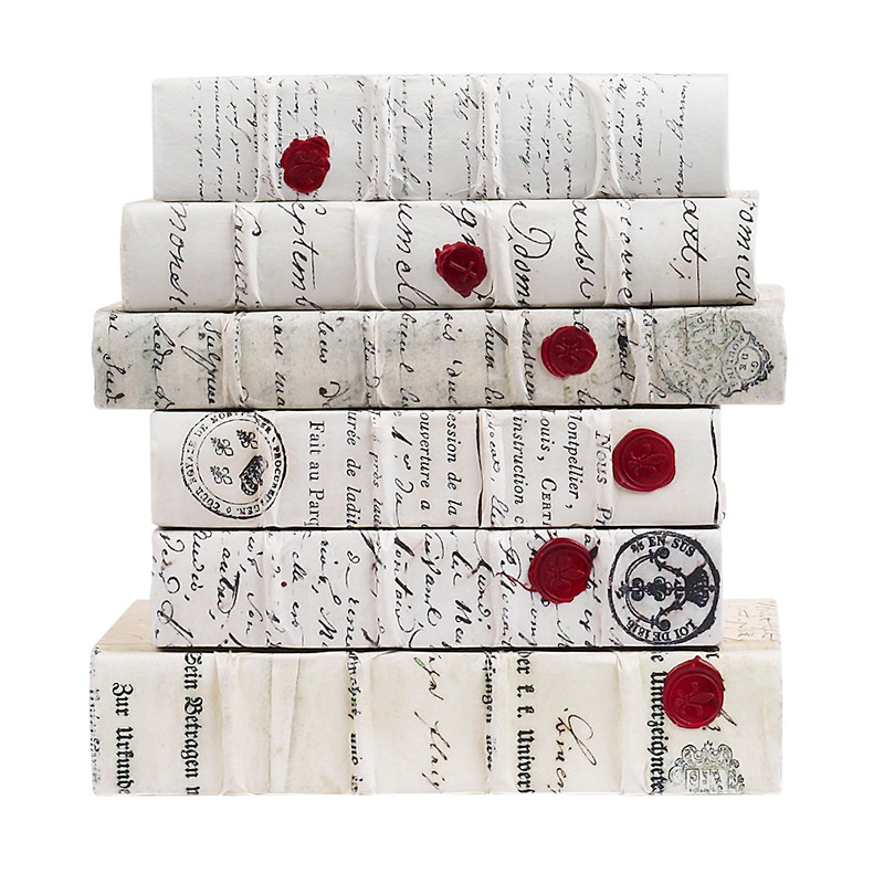 E Lawrence Antique Script With Red Wax Seal