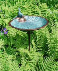 Scallop Shell Birdbath with stand