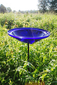 Cobalt Blue Crackle Bowl with stand