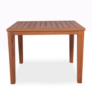 "Lloyd Flanders Teak 39.5"" Square Tapered Leg Dining Table"