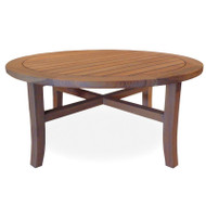"Lloyd Flanders Teak 40"" Round Tapered Leg Cocktail Table"