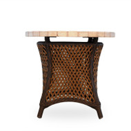 """Lloyd Flanders Grand Traverse 24"""" Round End Table With Mosaic Top"""