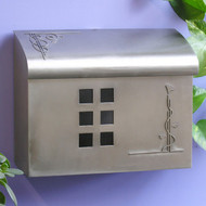 Ecco Arts & Crafts Style Mailbox- Satin Nickel