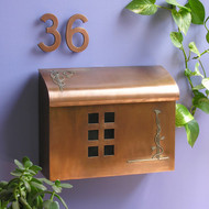 Ecco Arts & Crafts Style Mailbox- Copper