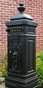 Ecco Victorian Style Tower Mailbox- Black