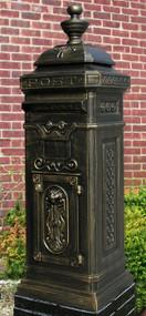 Ecco Victorian Style Tower Mailbox- Bronze