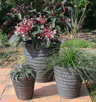 Anamese Strata Round Planter Set of 3