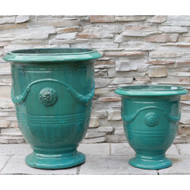 Anamese Anduze Urn - Medium or XL with Antique Aqua, Aqua, Blue, or Sand Finishes