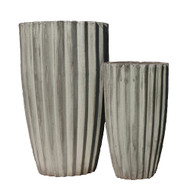 Anamese Fluted Vase Set of 2 - Apple Green
