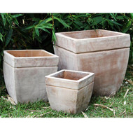 Anamese Bianca Square Planters Set of 3