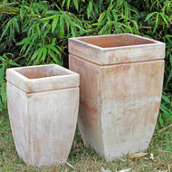 Anamese Bianca Tall Square Planters Set of 2