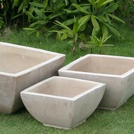Anamese Milan Low Square Bowls Set of 3