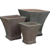 Anamese Flared Square Planter Set of 3