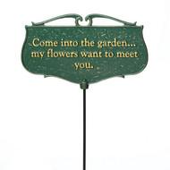 """Come into the Garden..."" Plaque main image"