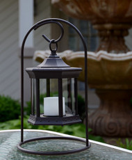Solar Lantern Arch Stand Clear Glass image 1